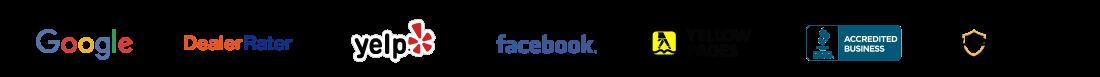 review logos