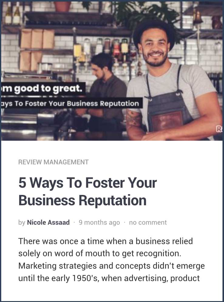 5 wats to foster your business reputation