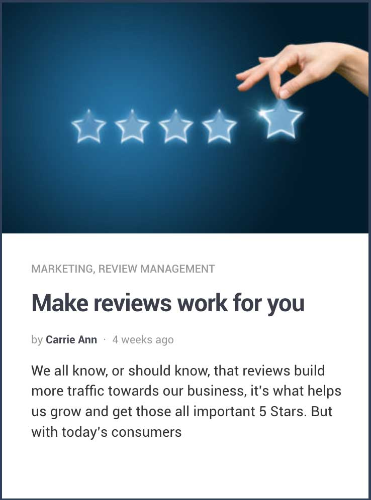 Make Reviews Work For you