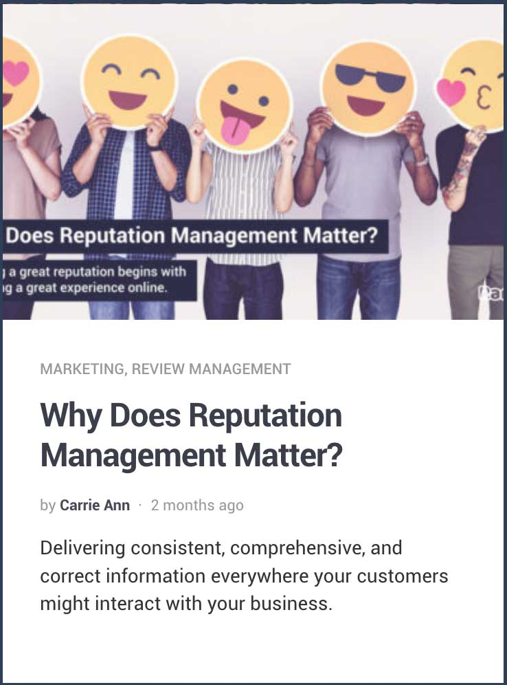 Why Does Reputation management matter